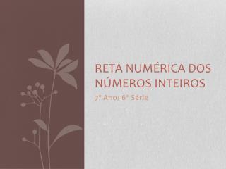 Reta Numérica dos Números Inteiros