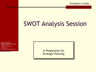 SWOT Analysis Session