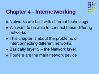 Chapter 4 - Internetworking