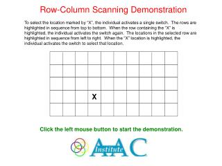 Row-Column Scanning Demonstration