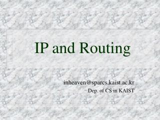 IP and Routing