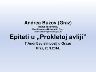7.Andrićev simpozij u Grazu Graz, 25.9.2014.