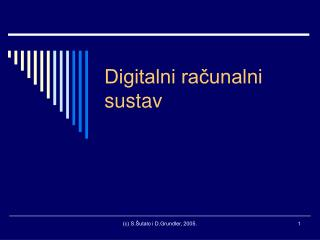 Digitalni računalni sustav