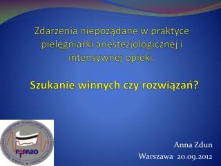 Anna Zdun  Warszawa  20.09.2012
