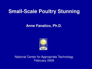 Small-Scale Poultry Stunning