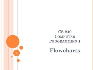 CS 240 Computer Programming 1