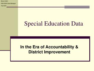 Special Education Data