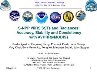 SPIE Defense, Security + Sensing  29 April – 3 May 2013, Baltimore, USA