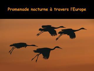 Promenade nocturne à travers l'Europe