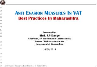 Anti Evasion Measures In VAT
