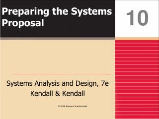 Preparing the Systems Proposal