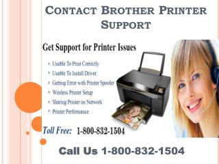 Contact Brother Printer Support 1-800-832-1504