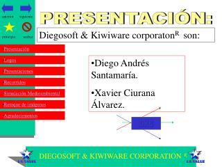 DIEGOSOFT & KIWIWARE CORPORATION  R