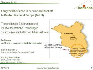 Langzeitarbeitslose in der Sozialwirtschaft In Deutschland und Europa (Teil III):