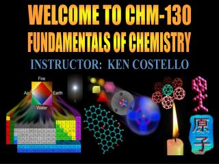 WELCOME TO CHM-130
