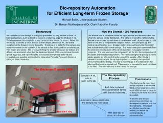 Bio-repository Automation for Efficient Long-term Frozen Storage