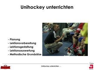 Unihockey unterrichten
