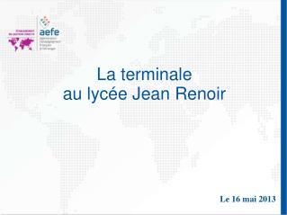 La terminale au lycée Jean Renoir