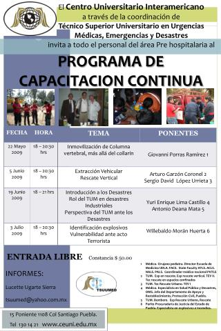 PROGRAMA DE CAPACITACION CONTINUA