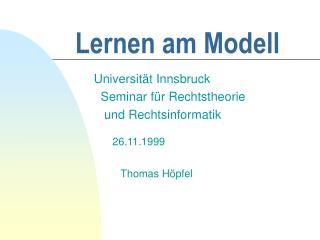 Lernen am Modell