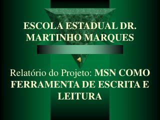 Relatório   projeto MSN2