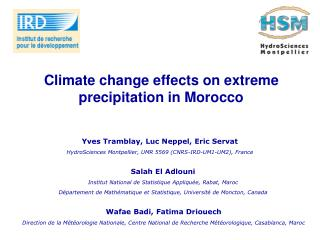 Climate change effects on extreme precipitation in Morocco