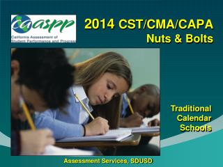 2014  CST/CMA/CAPA Nuts & Bolts