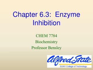 Chapter 6.3:  Enzyme Inhibition
