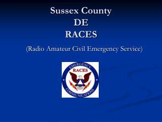 Sussex County  DE RACES