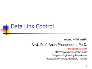 Data Link Control