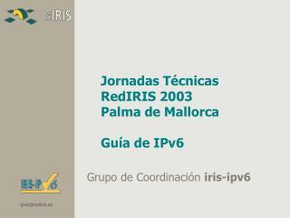 Jornadas Técnicas  RedIRIS 2003 Palma de Mallorca Guía de IPv6