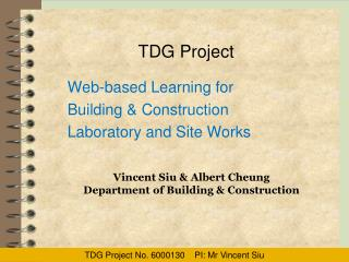 TDG Project