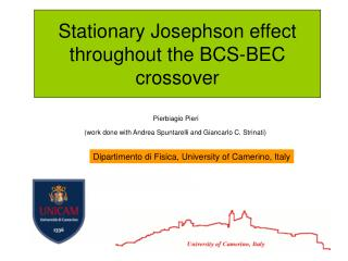 Stationary Josephson effect throughout the BCS-BEC crossover
