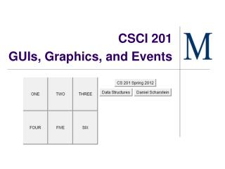 CSCI 201  GUIs, Graphics, and Events