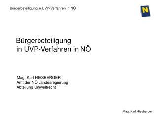 Bürgerbeteiligung in UVP-Verfahren in NÖ