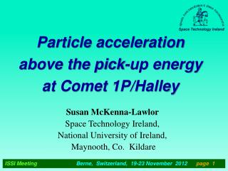 Particle acceleration above the pick-up energy at Comet 1P/Halley