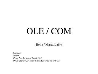 OLE / COM