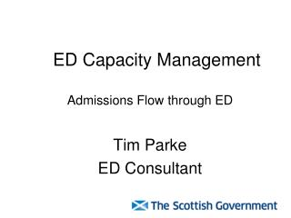 ED Capacity Management