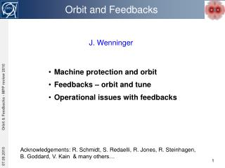 Orbit and Feedbacks