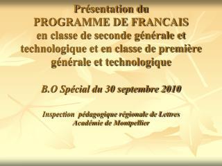 Préambule : Les finalités de l ' enseignement des lettres au lycée