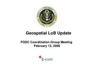 FGDC Coordination Group Meeting  February 12, 2008