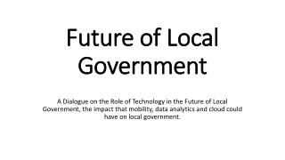 Future of Local Government