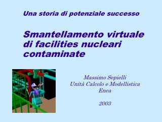 Massimo Sepielli Unit� Calcolo e Modellistica Enea 2003