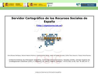 Unidad de Sistemas de Información Geográfica