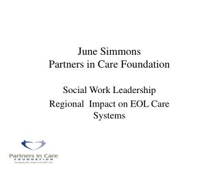 June Simmons Partners in Care Foundation