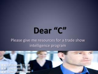 """Dear """"C"""""""