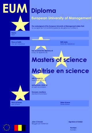 European University of Management