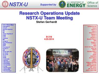 Research Operations Update NSTX-U Team Meeting