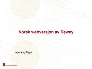 Norsk webversjon av Dewey