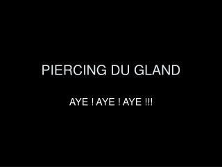 PIERCING DU GLAND